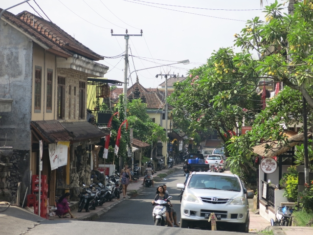 The street that our homestay was on