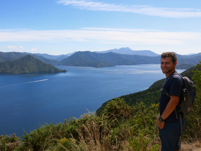 A lookout over Queen Charlotte Sound