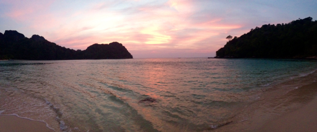 We needed to find this... and we did! Sunset over Lana Bay on Phi Phi