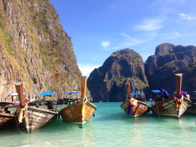The world-famous Maya Bay