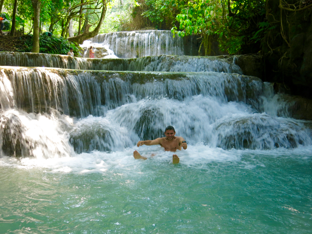 Like these waterfalls... Why, hello, Laos!